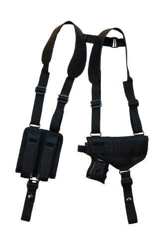 NEW Barsony Nylon Concealment Shoulder Holster w/ Double Mag GLOCK 17 20-22 24 25 right Barsony Holsters and Belts
