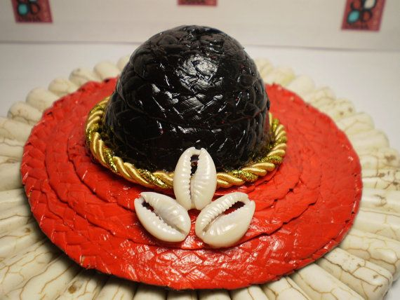 Black and Red Little Hat for Elegua, Santeria, Ifa, Babalawos, Orishas, Yoruba Religion