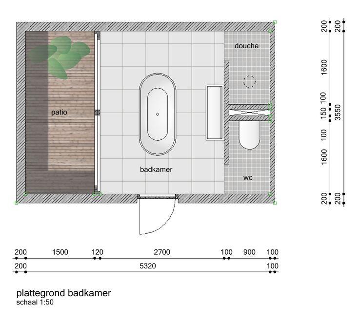 grondplan badkamer - Google zoeken