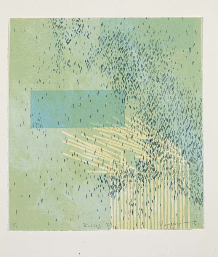 """""""Blues 88"""" (2013) Monoprint with drypoint"""
