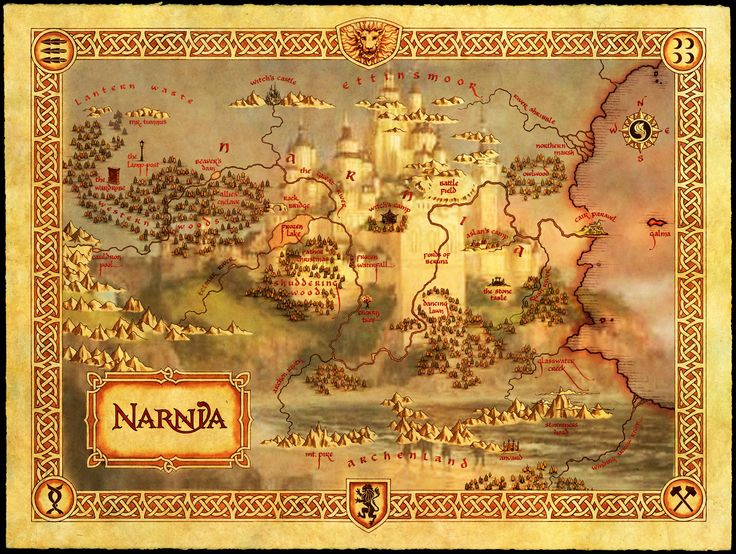 Narnia Movie Map Narnia Concept Art Photoshop And Me