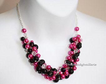 Collar collar de perlas collar de racimo por DaisyBeadzJoaillerie