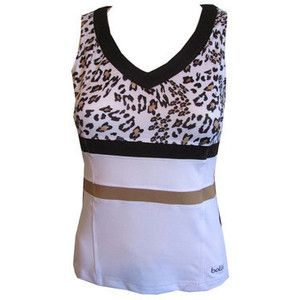 CLEARANCE Bolle Ladies Tennis Tank Tops Safari Animal Print (Leopard)