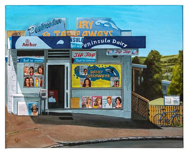 Artfind.co.nz - Artwork - Peninsula Dairy by Graham Young