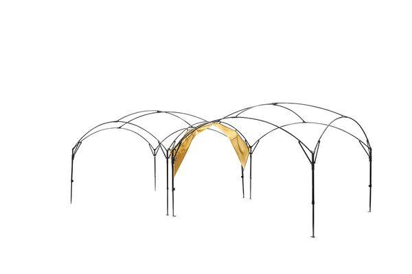 1人でも簡単設営の大型シェードで グループbbqやキャンプに超開放的な