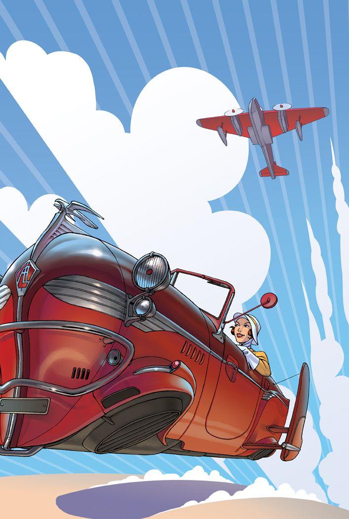 Aviones Dieselpunk y retrofuturistas