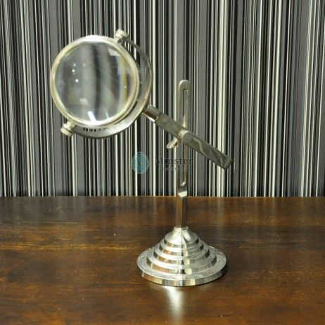 Magnify Glass On Table Top Stand €40  Call and secure over the phone: 01-4966851 or on http://www.rugstorhinos.com/ #interiordesign #desk #design