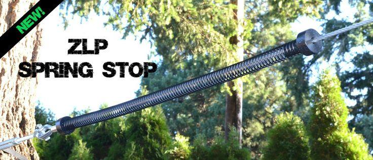 Backyard Zip Lines - ZLP Zip Line Trolley Spring Stop - Brake, $64.95 (http://www.backyardziplines.mybigcommerce.com/zlp-zip-line-trolley-spring-stop-brake/)