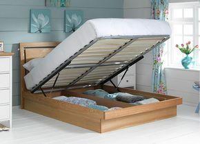 Isabella Oak Ottoman Wooden Bed Frame