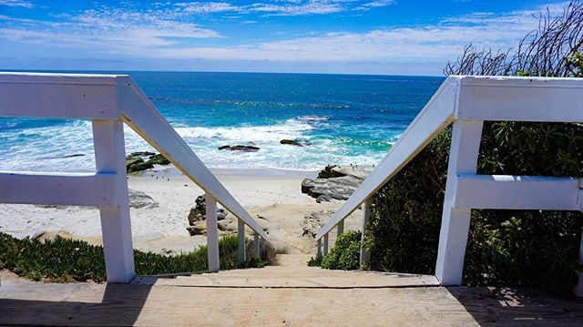 A glimpse into paradise! #lajolla @lajollacom #windnsea #beaches #beach #sandiego #surf #surfer #surfing @surflinelocalpro @surfline #surflinelocalpro #wave #sand #stairs #sunnyday #photo #photography #photography #photographer #lajollalocals #sandiegoconnection #sdlocals - posted by Kyle Lich  https://www.instagram.com/kayden_sd. See more post on La Jolla at http://LaJollaLocals.com