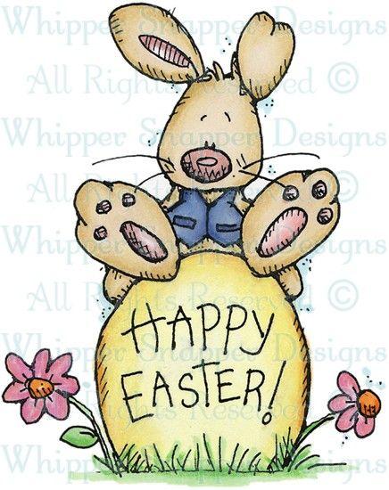 Easter Egg Bunny - Easter - Holidays - Rubber Stamps - Shop