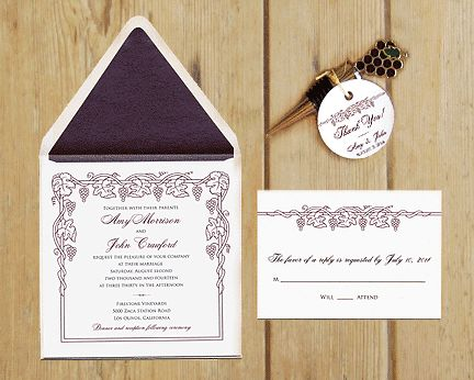 Wine Wedding Invitations, Wine Wedding Favors, Wine Save the Date Cards