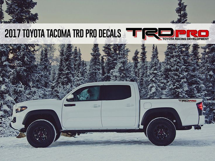 Product: TRD PRO Toyota Racing Development Tacoma Tundra Bed Side Vinyl Decals Stickers 2 Colors