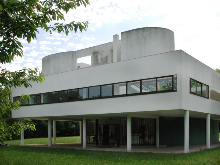Villa savoye poissy f by le corbusier and pierre for 5 points corbusier