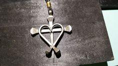 Horseshoe nail cross I made