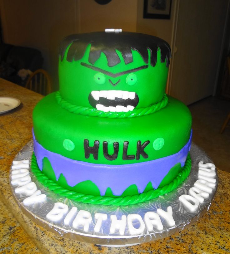 Incredible Hulk Birthday Cake birthday ideas Pinterest ...