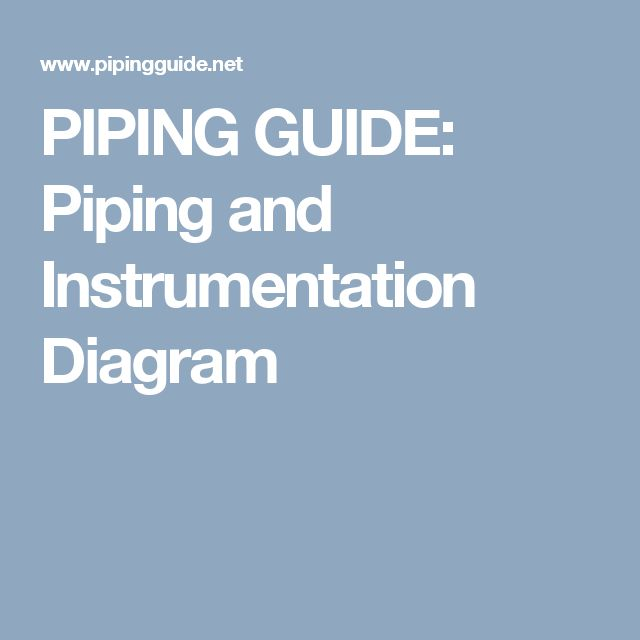 PIPING GUIDE: Piping and Instrumentation Diagram