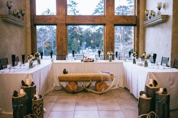 Rustic wedding reception    #wedding #weddingideas #aislesociety #winterwedding
