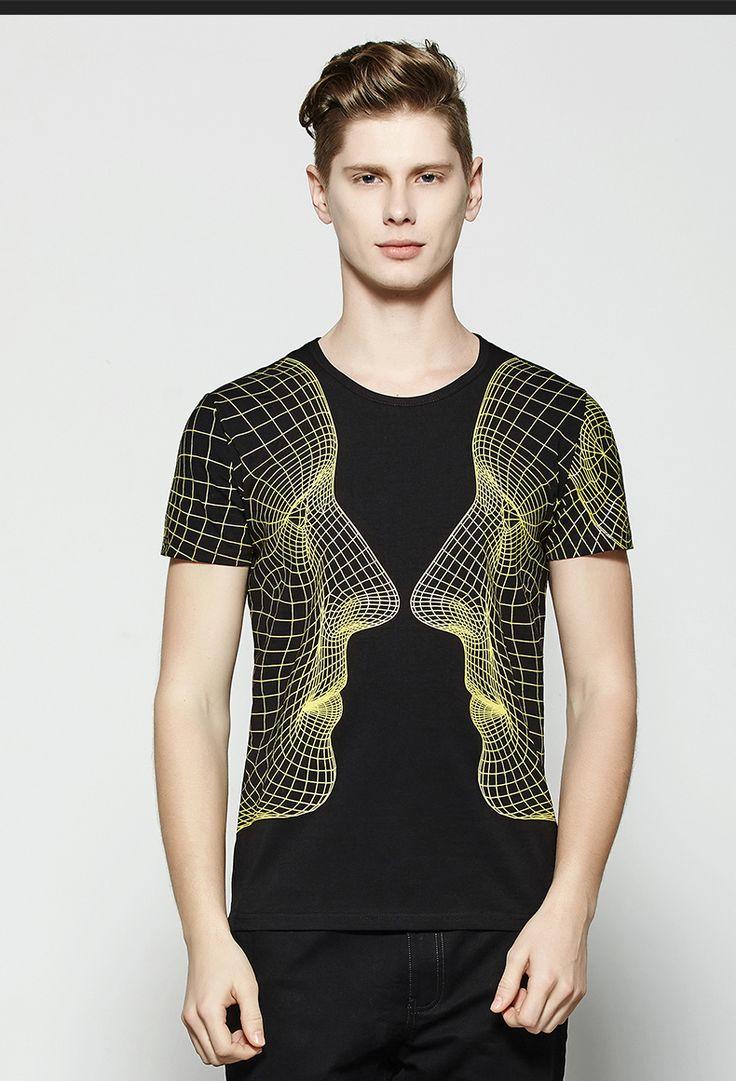 BW мужские летние мужчины вокруг шеи короткий рукав футболки модальный хлопок Аватар 3D печати с коротким рукавом сострадательной прилива корейской версии перегоне - Taobao