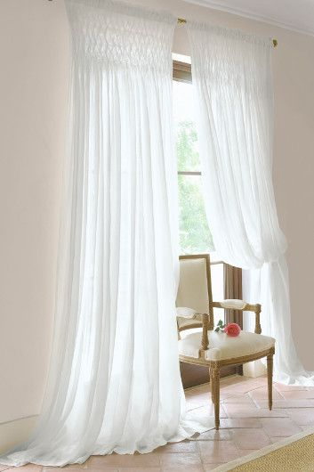 Decorating sheer panels for windows : 17 Best images about Drapery/ curtains on Pinterest | Bay window ...