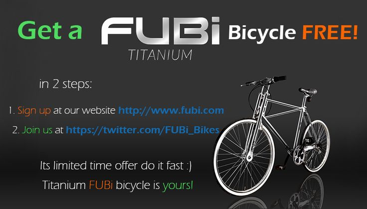 Get a free FUBi the best compact bike by joining us at Twitter https://twitter.com/FUBi_Bikes