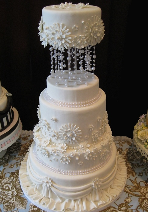 How To Ice Dummy Wedding Cake