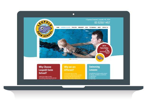 Leopold Swim School Website Design - Martlette Graphic Design Geelong www.martlette.com.au