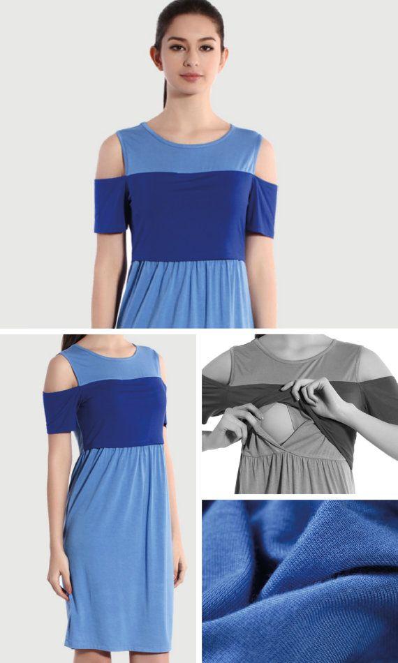 BLUE COLD SHOULDER Nursing Dress by BESLOV features a minimal design with a cut out on each shoulder. Keep it simple but stylish with this dress. #Clothing #Maternity #Nursing #MaternityClothes #MaternityDresses #MaternityGown #MaternityShirts #NursingCover #NursingTop #NursingDress #BreastfeedingCover #BreastfeedingDress #BreastfeedingShirt #PlusSize #Custom #Wholesale #Etsy #BESLOV #BLUEChiffonNursingDress #BlueNursingDress