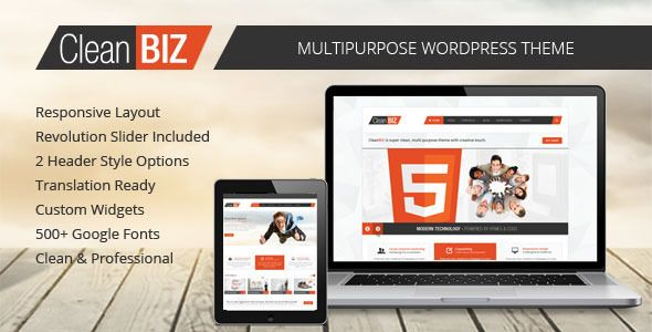 CleanBIZ - Multipurpose Wordpress Theme   http://themeforest.net/item/cleanbiz-multipurpose-wordpress-theme/4935456?ref=damiamio               CleanBIZ – Multipurpose Wordpress Theme     CleanBIZ is perfectly clean and modern multipurpose theme with creative touch.      If you are looking for simple, clean but still creative theme for your business web site or personal portfolio you have come to the right place. CleanBIZ is very powerful, customizable and easy to edit. It is made with latest…