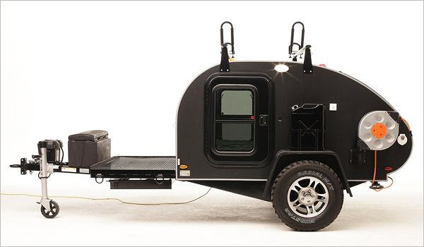 Brave New Gear - gadgets for a brave new world. It's designed as a survival camper to store supplies in case you need to evacuate your area for any emergency situation. It is also however, is being marketed as a functional, recreational camper, especially if you are heading into remote areas.
