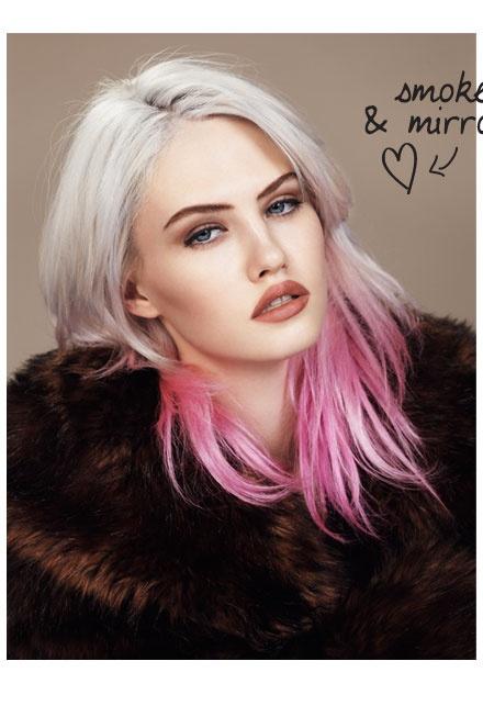 dipdye #pink #platnum blonde