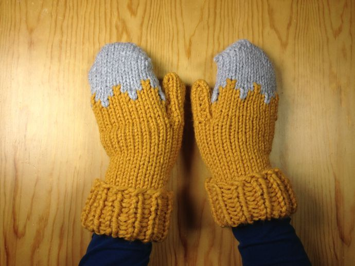 How to loom knit mittens DIY tutorial