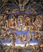 Last Judgment (1) 1537-41  by Michelangelo Buonarroti