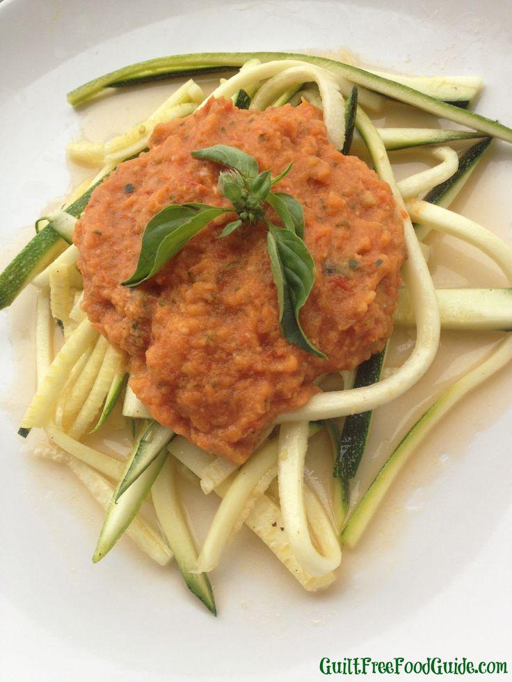 Fresh Tomato and Basil Pasta Sauce with Zucchini 'Pasta'