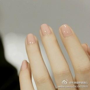 clean polished natural nails