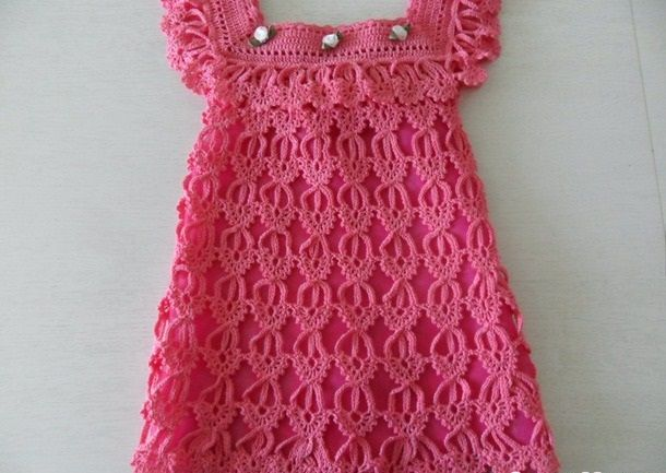 Click to view pattern for - Pink dress for girl