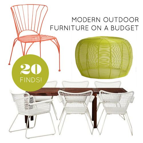 Lovely 20 Finds For Affordable And Modern Outdoor Furniture