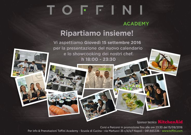 Festa d'inaugurazione anno accademico 2016/2017- 15 settembre ore 18 Toffini Academy