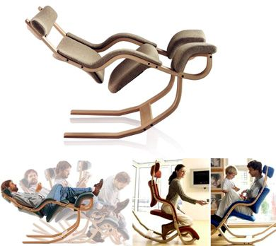 stokke gravity chair This one looks dangerous on the surface but has many functions...also a very high price tag.
