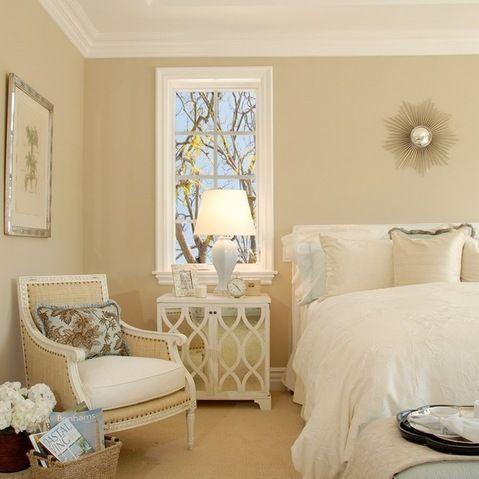 Soothing bedroom color or maybe office. benjamin moore cream fleece