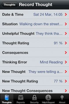 Cognitive Behavioral Therapy app.