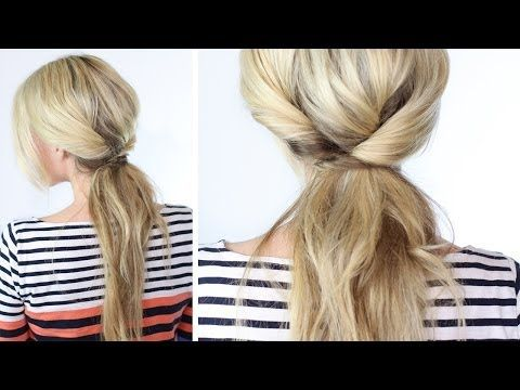 Triple Twisted  Ponytail... I really prefer having my hair up, maybe like this and with some texture this hairdo  an work for an outing instead my boring flat hair