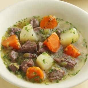 Irish Lamb Stew Slow Cooker  Lamb stew is Irish penicillin: a rich stew full of potatoes, leeks and carrots that'll cure whatever ails you. In traditional fashion, nothing here is browned first, just all stewed together. To keep it healthy make sure to trim the lamb of any visible fat before you cook it.    8 servings, generous 1 cup each   Active Time: 30 minutes   Total Time: 8 1/2 hours