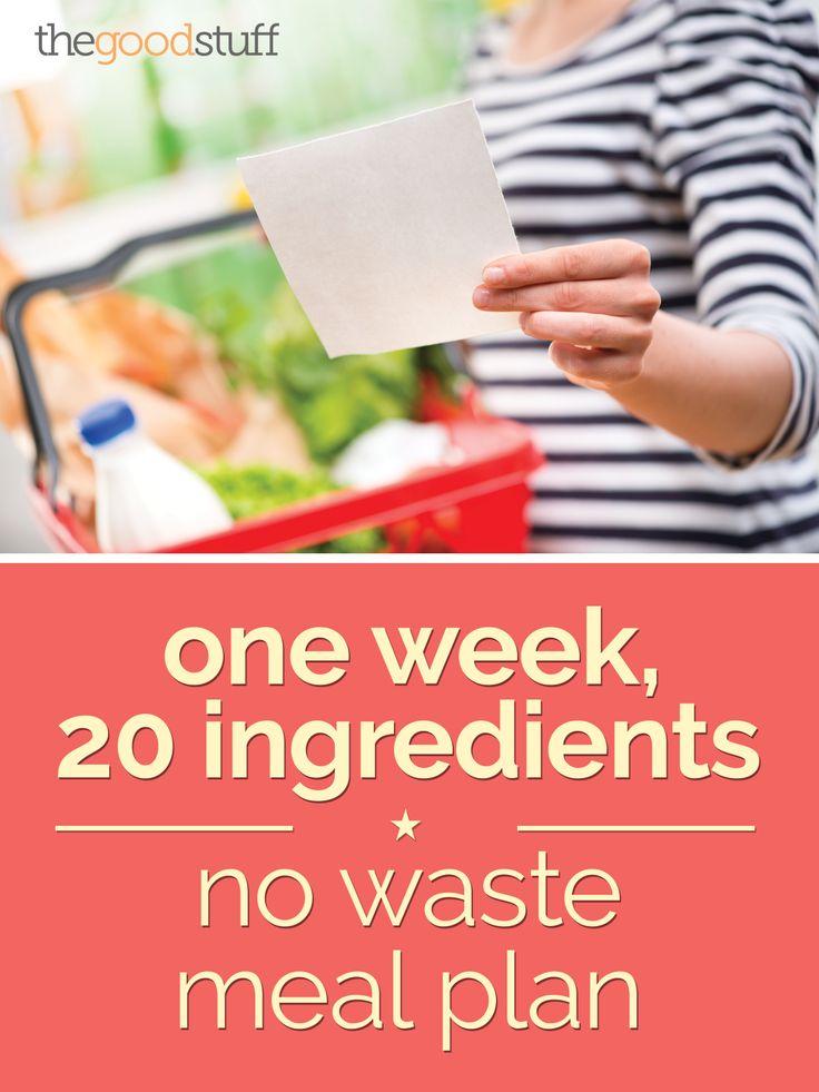 One Week, 20 Ingredients: No Waste Meal Plan | thegoodstuff
