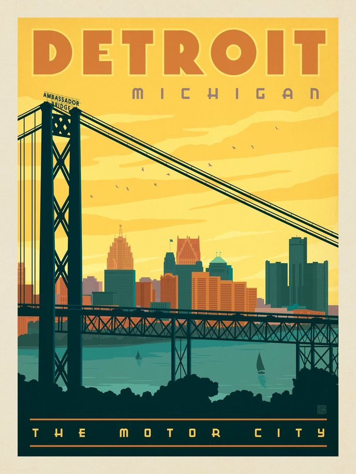 Anderson Design Group – American Travel – Detroit: Ambassador Bridge