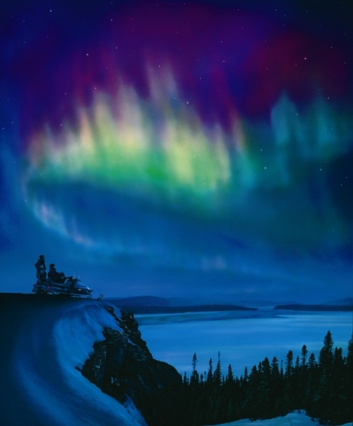 Northern Lights, Labrador, Canada.