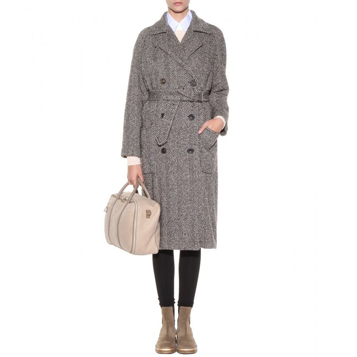 Herringbone wool coat - See by Chloé - 40% off Clothing - Sale - Luxury Fashion for Women / Designer clothing