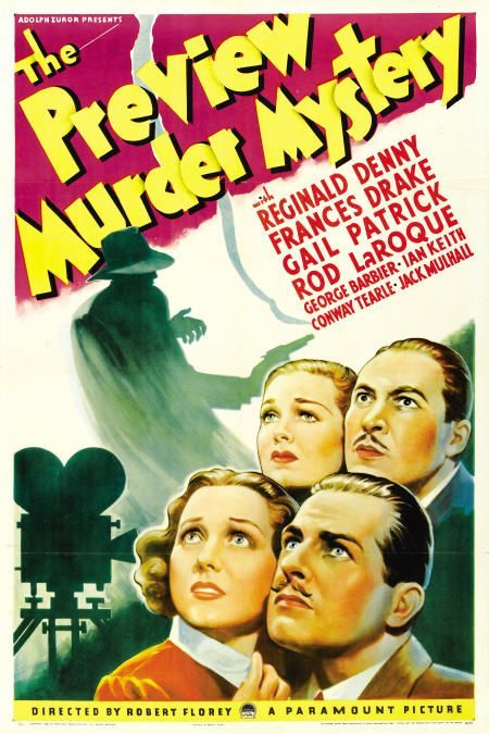 Reginald Denny, Frances Drake, Rod La Rocque, and Gail Patrick in The Preview Murder Mystery (1936)