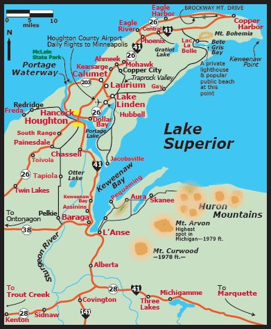 Keweenaw Peninsula, in Michigan's Upper Peninsula, also known as the Copper Country...*Both of my parents were born here.