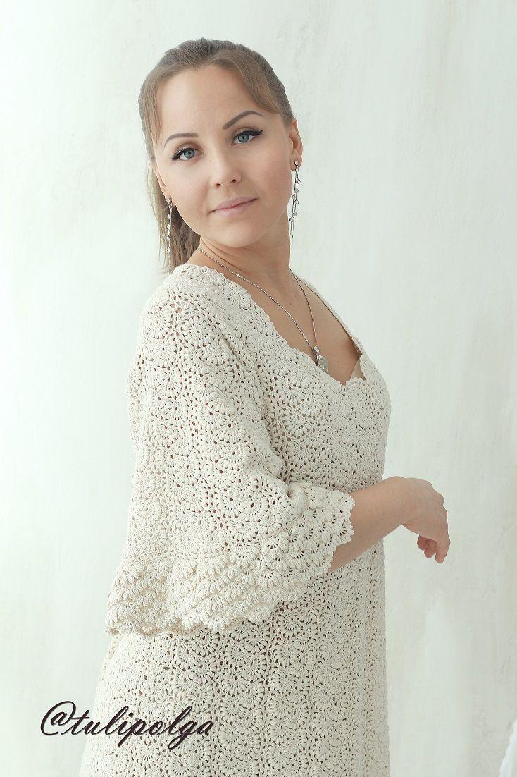 Макси платья связать схема волшебные крючочки фото 507